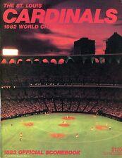 ST. LOUIS CARDINALS ~ 1983 Baseball Scorebook / Yearbook ~ 1982 WS Champions