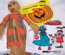 "Vintage 21"" Scarecrow Figure. Halloween Trick or Treat Bags"