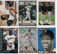 FUTURE HALL OF FAMER BARRY BONDS 1990's CARD LOT (X6) PIRATES / GIANTS #2