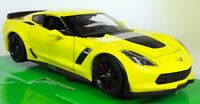 Nex models 1/24 27 Scale 2017 Chevrolet Corvette Z06 Yellow Diecast model car