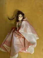 """Vintage Antique 6"""" Hard Plastic Caucasian Girl Doll C11"""