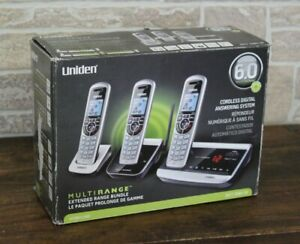 New- Uniden DECT 6.0 Extended Range (3)Telephone Bundle with Answering System