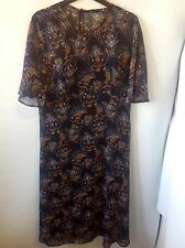 M&S Collection Printed 2 Part Short Sleeve Dress Size: 10