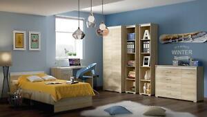 Dormitorio Cómoda Estante Mesa Vitrinas Cómoda Diseñador Armario 5tlg. Set Nuevo