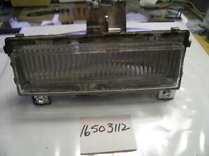 16503112 PARK LIGHT assembly RH clear 1986-89 Oldsmobile Toronado GM NOS part