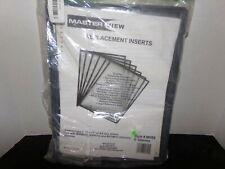 NEW MasterView MVS6 Martin Yale Replacement Inserts (6) Sleeves  SHIPS FREE!