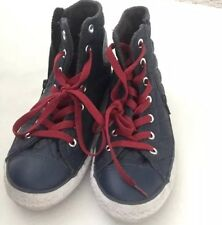 Converse Girls High Top Youth Sneakers Sz 3 Us Navy  Blue