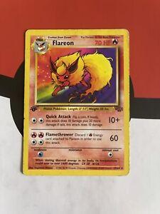 Flareon 19/64 1st Edition Rare 1999 Jungle Set Pokemon Card
