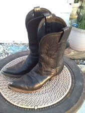 TONY LAMA 6.5 M STYLE 1101 L WOMEN BLACK LEATHER RUG COWBOY FARM RIDE HEEL BOOT