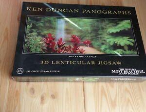 KEN DUNCAN PANOGRAPH 3D LENTICULAR JIGSAW Milla Millaa Falls 540 Pieces Puzzle