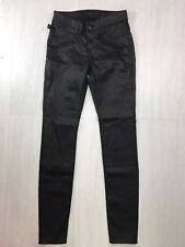 Rock & Republic Womens Kashmiere Faux Leather Pants Moto Skinny Black Sz 4 Small