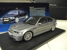 1:18 Autoart bmw m3 CSL STEEL GREY METALLIC NEUF NEW
