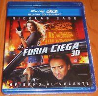 FURIA CIEGA / DRIVE ANGRY Nicolas Cage BLURAY 3D & BLURAY - ZONA B Precintada