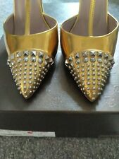 Gold Gucci Heels Size 40