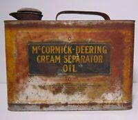 Old Vintage 1920s IH International Harvester McCormick-Deering Oil Can Farm USA
