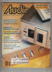 Audio Mag Nakamichi 1000 Binaural Sound Issue November 1989 072721nonr