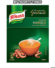 Knorr Cream of Seafood Marisco Gourmet Soup Mix with Dill 4 Portion Pack Spanish