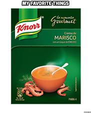 Knorr Sopa Crema de Marisco marisco Gourmet mezclar con eneldo 4 porción pack español