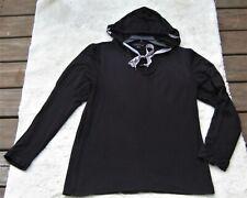 Signature Studio Black Hoodie Ribbon Drawstring Juliet Sleeves Women's Medium