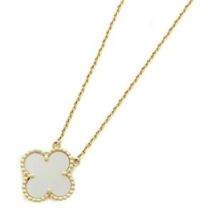 Van Cleef & Arpels Vintage Alhambra Necklace K18 (750) Yellow Gold white Used