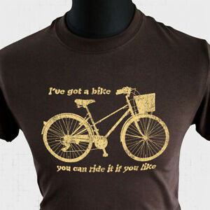 I've Got A Bike T Shirt Pink Floyd Tribute Syd Barrett Roger Walters 60's Brown