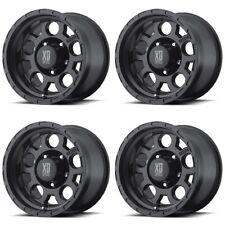"""Set 4 15"""" XD Series XD122 Enduro Black Wheels 15x9 5x4.5 -12mm Ford Jeep 5 Lug"""