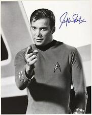 1966-1968 William Shatner Star Trek Signed Le 16x20 B&W Photo (Jsa)