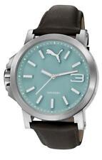 PUMA reloj Ultrasize LDS Azul pu103462009 Análogo Cuero Negro