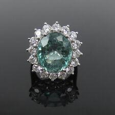 Rare AGL Certified 8.54ct Paraiba Tourmaline & 2.0ct Diamond Platinum Ring