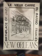 """new orleans """"birthplace Of Jazz"""" 1984 Print By George B. Luttrell II"""