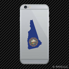 New Hampshire State Shaped Flag Cell Phone Sticker Mobile NH