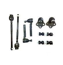 8 Pc Kit Front Lower Ball Joints Inner & Outer Tie Rods Stabilizer Bar Links
