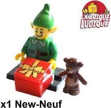 Lego - Figurine Minifig Minifigurine série 11 Holiday Elf elfe lutin ours NEUF