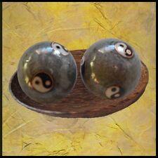 Qi Gong Kugeln YIN YANG GRAU - für kleine Hände - Klangkugeln Massage Meditation