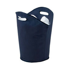 Russel Laundry Hamper with Handles, Navy Washing Basket Clothes Storage Bag