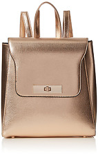 New Look Women's Sleek Mini Backpack Handbag Gold (Rose Gold)