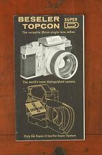 TOPCON SUPER D SALES BROCHURE/68851