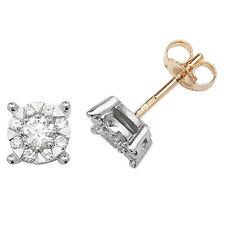 Diamant Ohrstecker Gelbgold Premium Diamanten 0.60ctw Schätzung Zertifikat