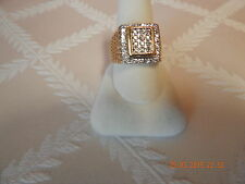 10K yellow gold men's diamond cluster  ring @1/2 carat total 10.2 grams size 10