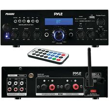 Pyle Home Pda6Bu 200-Watt Bluetooth(R) Stereo Amp Receiver With Usb & Sd(Tm) Car