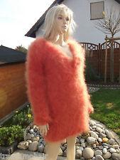 Sogno Mohair p2o Fluffy LONGHAIR Mohair Pullover Sweater Jumper V-Neck NEW S-M