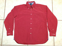 Vintage Tommy Hilfiger Red Plaid Long Sleeve Shirt Button Front L EUC