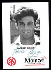 Fabrizio Hayer AUTOGRAFO scheda FSV Mainz 05 Top + a 95159 D