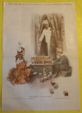 Cream of Wheat Kids & Blocks Ad 1920 Hanes Underwear Ad Page Great Pic See!