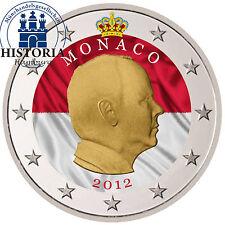 Monaco 2 euro moneta speciale 2012 stgl. Fürst Albert II. Grimaldi in colore