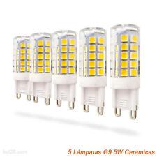 Pack 5 Bombillas LED ceramicas 5W lineal G9 600Lm bajo consumo LED26