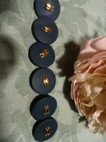 Lot de 6  boutons neufs ,haute couture,,,, veste,  vert bronze  ,dorure 25mm
