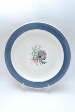 "Stunning pair vintage Susie Cooper Hand Decorated 10"" Blue Dahlia Dinner Plates"