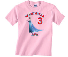 Frozen Elsa Personalized Custom Birthday Shirt in 8 Different Colors