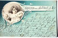 16258 Kitsch Ak Tarjeta de Felicitación Con Niño, Poema Alrededor De 1915